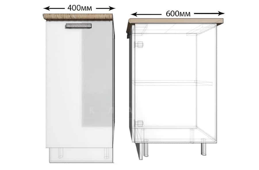 Кухонный шкаф напольный Гинза ШН40 фото 1 | интернет-магазин Складно