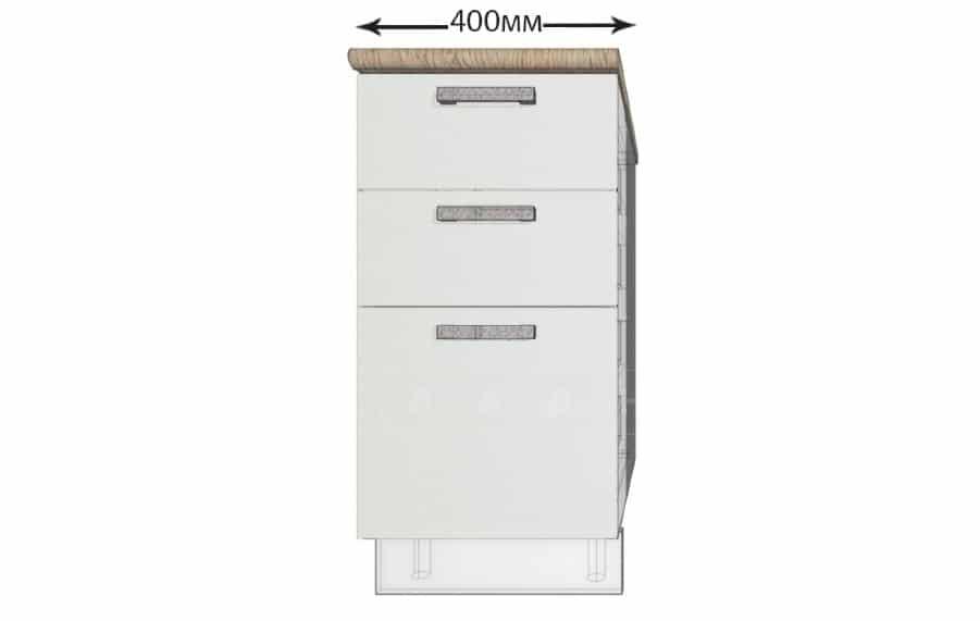 Кухонный шкаф напольный Гинза ШН3Я40 с 3 ящиками фото 1 | интернет-магазин Складно