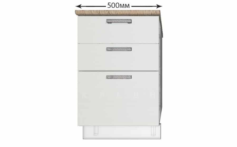 Кухонный шкаф напольный Гинза ШН3Я50 с 3 ящиками фото 1 | интернет-магазин Складно