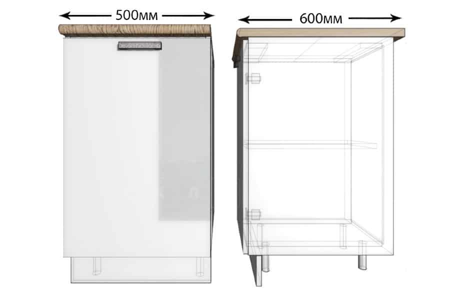 Кухонный шкаф напольный Гинза ШН50 фото 1 | интернет-магазин Складно