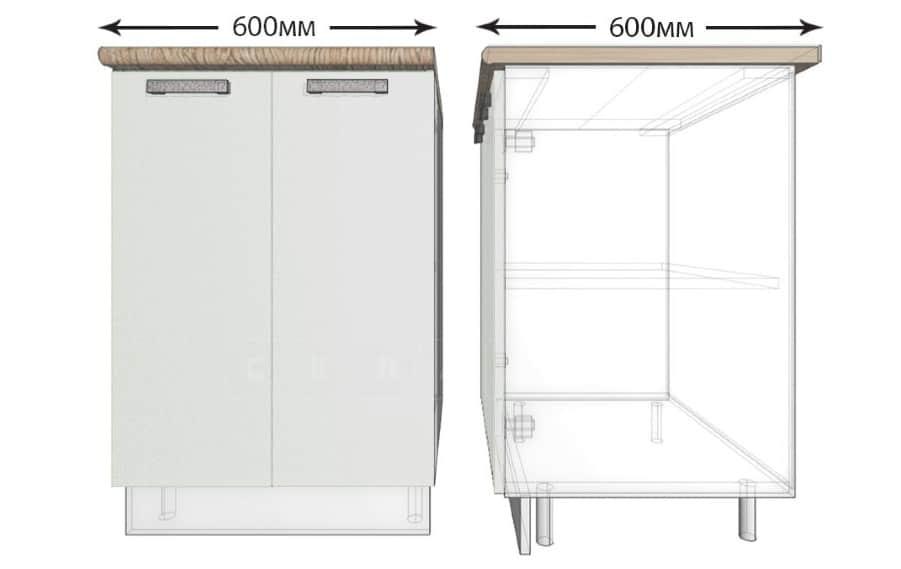 Кухонный шкаф напольный Гинза ШН60 фото 1 | интернет-магазин Складно