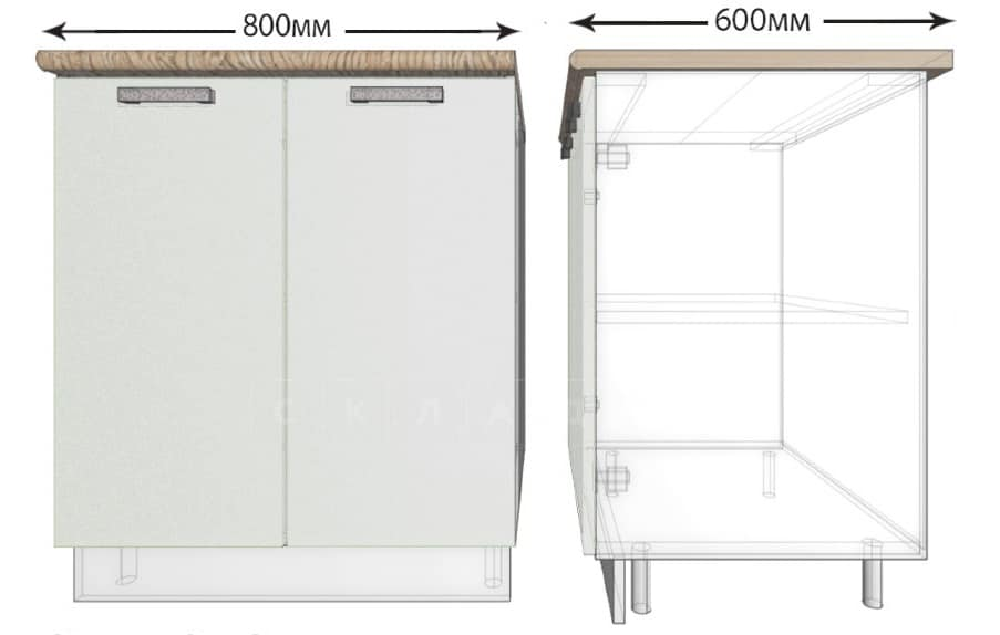 Кухонный шкаф напольный Гинза ШН80 фото 1 | интернет-магазин Складно