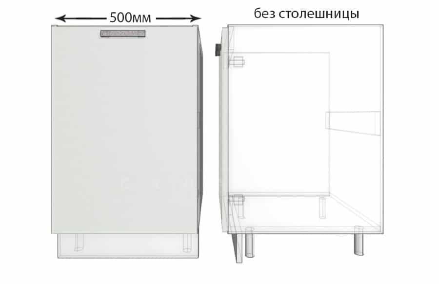 Тумба под мойку для кухни Гинза ШНМ50 фото 1 | интернет-магазин Складно