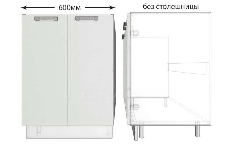 Тумба под мойку для кухни Гинза ШНМ60 фото 1   интернет-магазин Складно