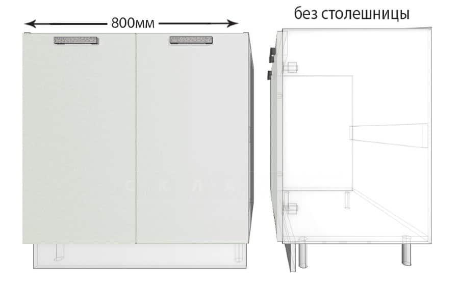 Тумба под мойку для кухни Гинза ШНМ80 фото 1 | интернет-магазин Складно