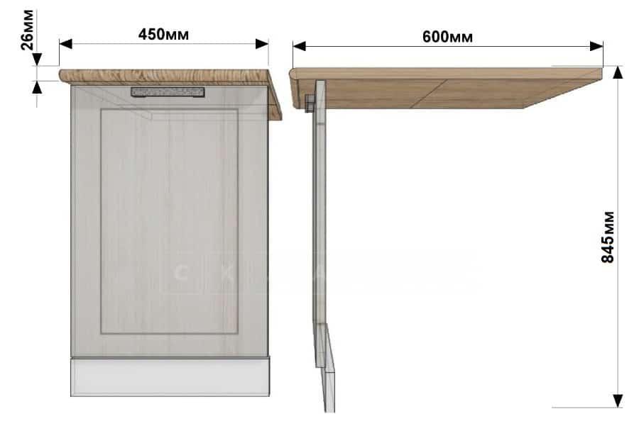 Кухонный шкаф под встраиваемую посудомоечную машину Гинза ШПМ45 фото 1 | интернет-магазин Складно