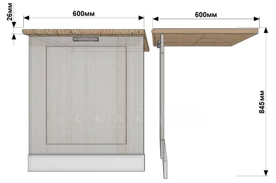 Кухонный шкаф под встраиваемую посудомоечную машину Гинза ШПМ60 фото 1 | интернет-магазин Складно