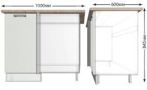 Кухонный шкаф напольный угловой Гинза ШНУ100 фото | интернет-магазин Складно