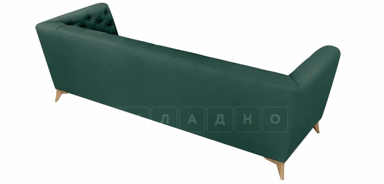 Диван прямой трехместный Честер на ножках изумрудный фото 3 | интернет-магазин Складно