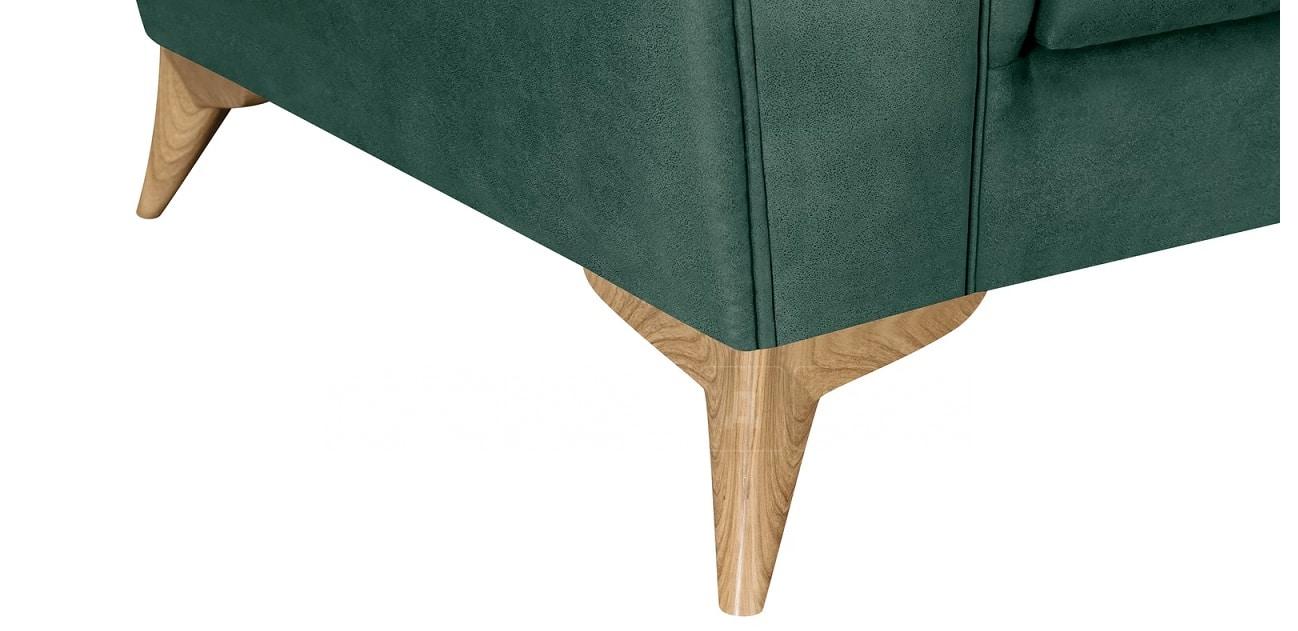 Диван прямой двухместный Честер на ножках изумрудный фото 10 | интернет-магазин Складно