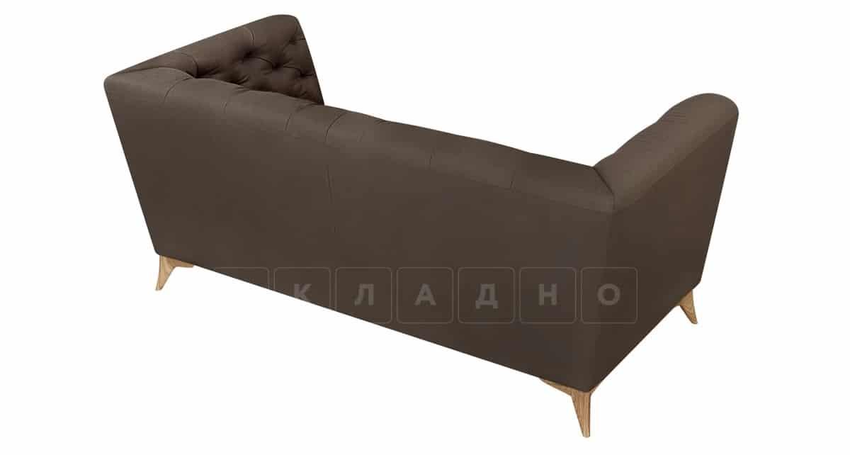 Диван прямой двухместный Честер на ножках коричневый фото 4 | интернет-магазин Складно