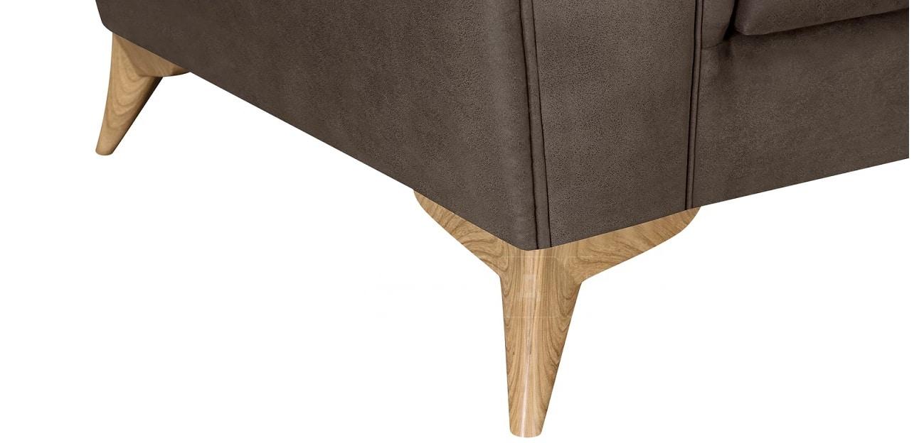 Диван прямой трехместный Честер на ножках коричневый фото 6 | интернет-магазин Складно