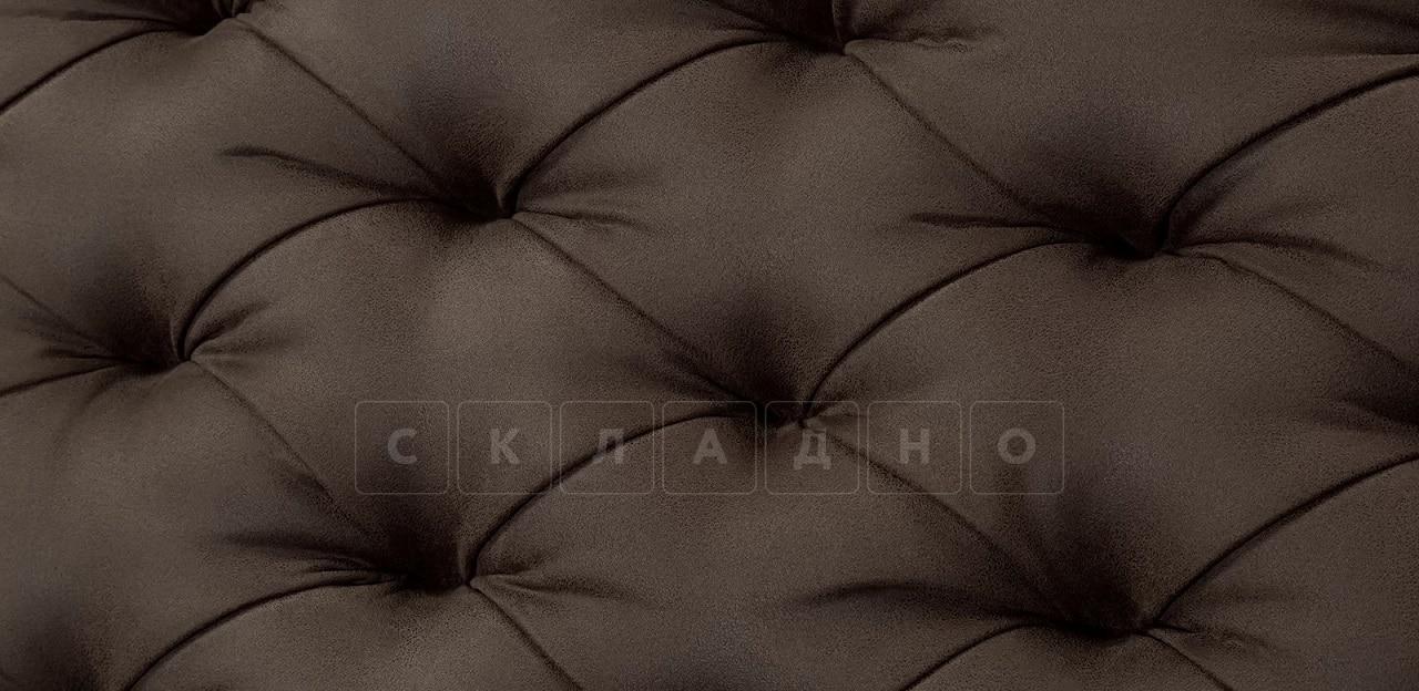 Диван прямой трехместный Честер на ножках коричневый фото 9 | интернет-магазин Складно