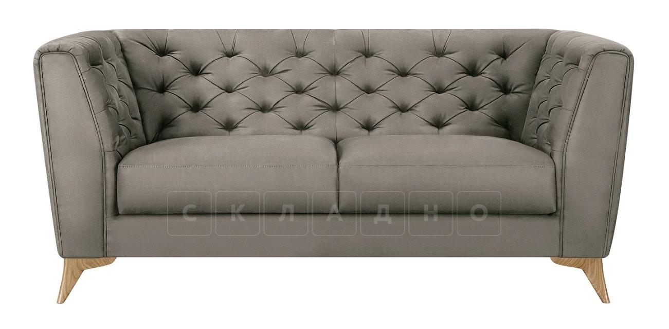 Диван прямой двухместный Честер на ножках серый фото 2 | интернет-магазин Складно