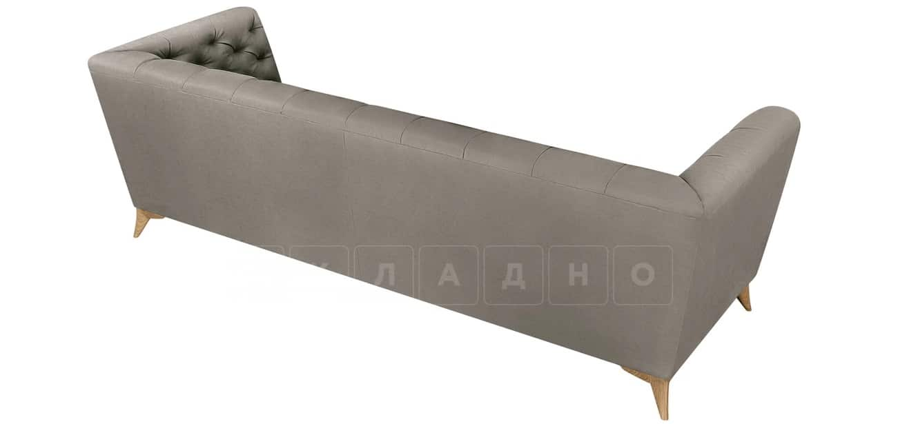 Диван прямой трехместный Честер на ножках серый фото 4 | интернет-магазин Складно