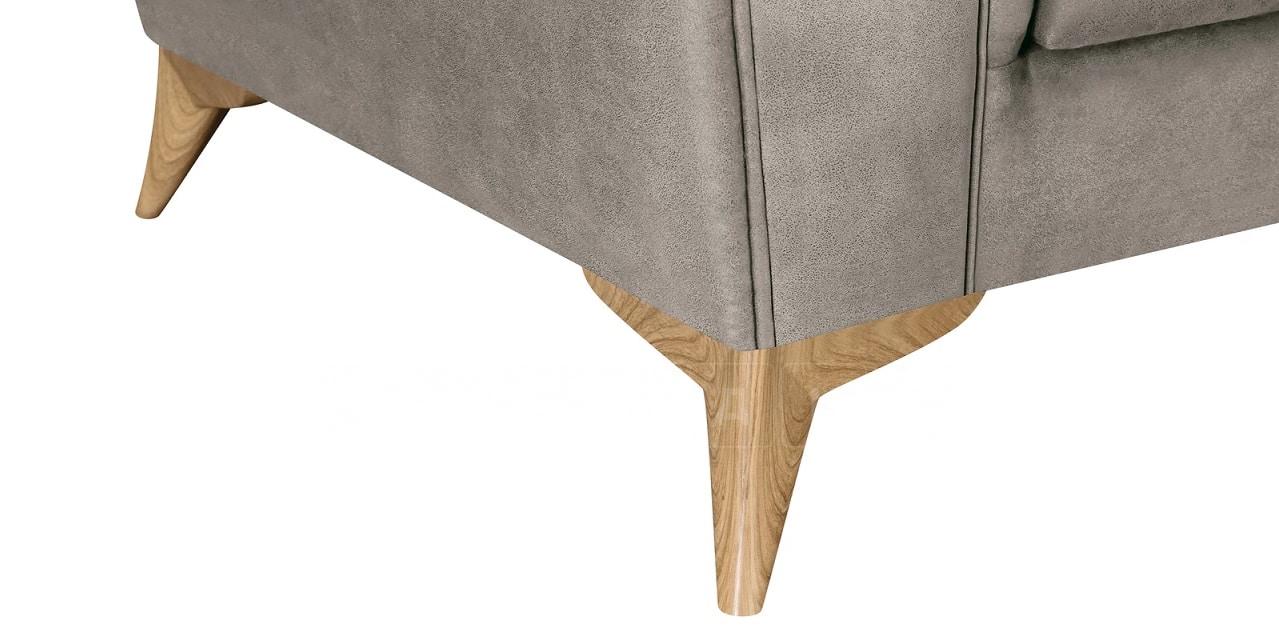 Диван прямой трехместный Честер на ножках серый фото 6 | интернет-магазин Складно