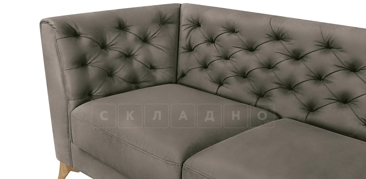 Диван прямой трехместный Честер на ножках серый фото 7 | интернет-магазин Складно