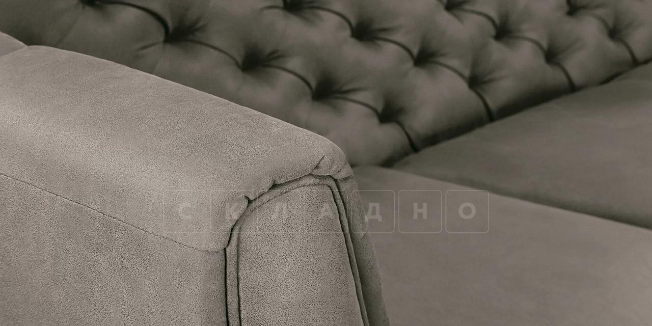 Диван прямой трехместный Честер на ножках серый фото 8 | интернет-магазин Складно