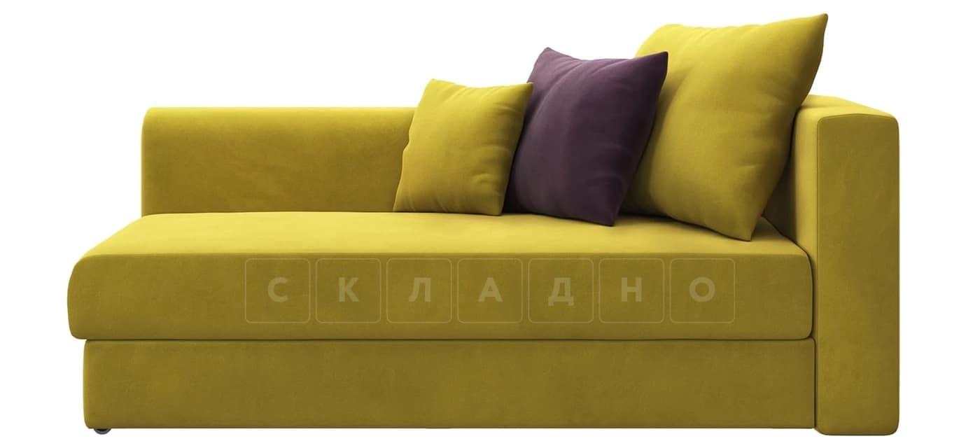 Детский диван Медисон горчичный левый фото 3 | интернет-магазин Складно