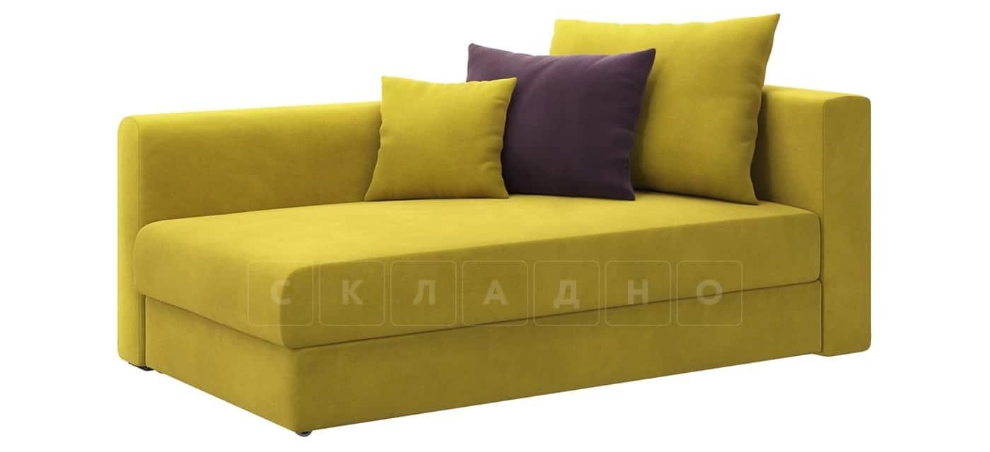 Детский диван Медисон горчичный левый фото 1 | интернет-магазин Складно