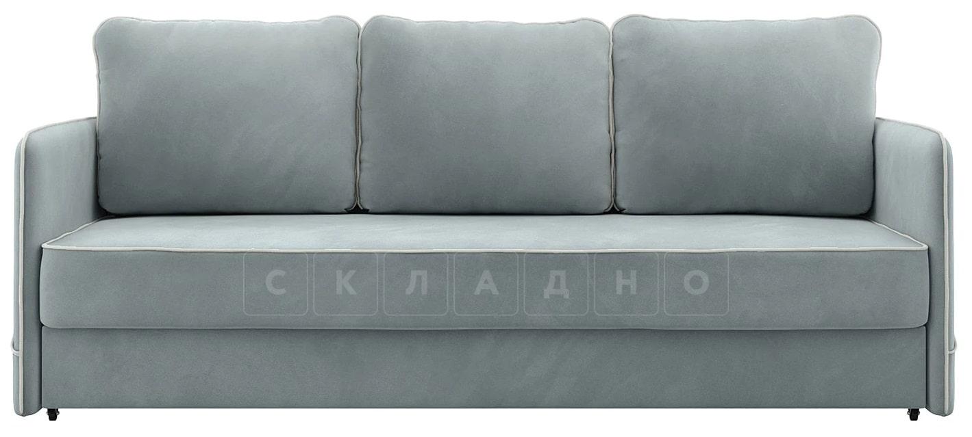 Диван с узкими подлокотниками Слим серо-голубой фото 3 | интернет-магазин Складно