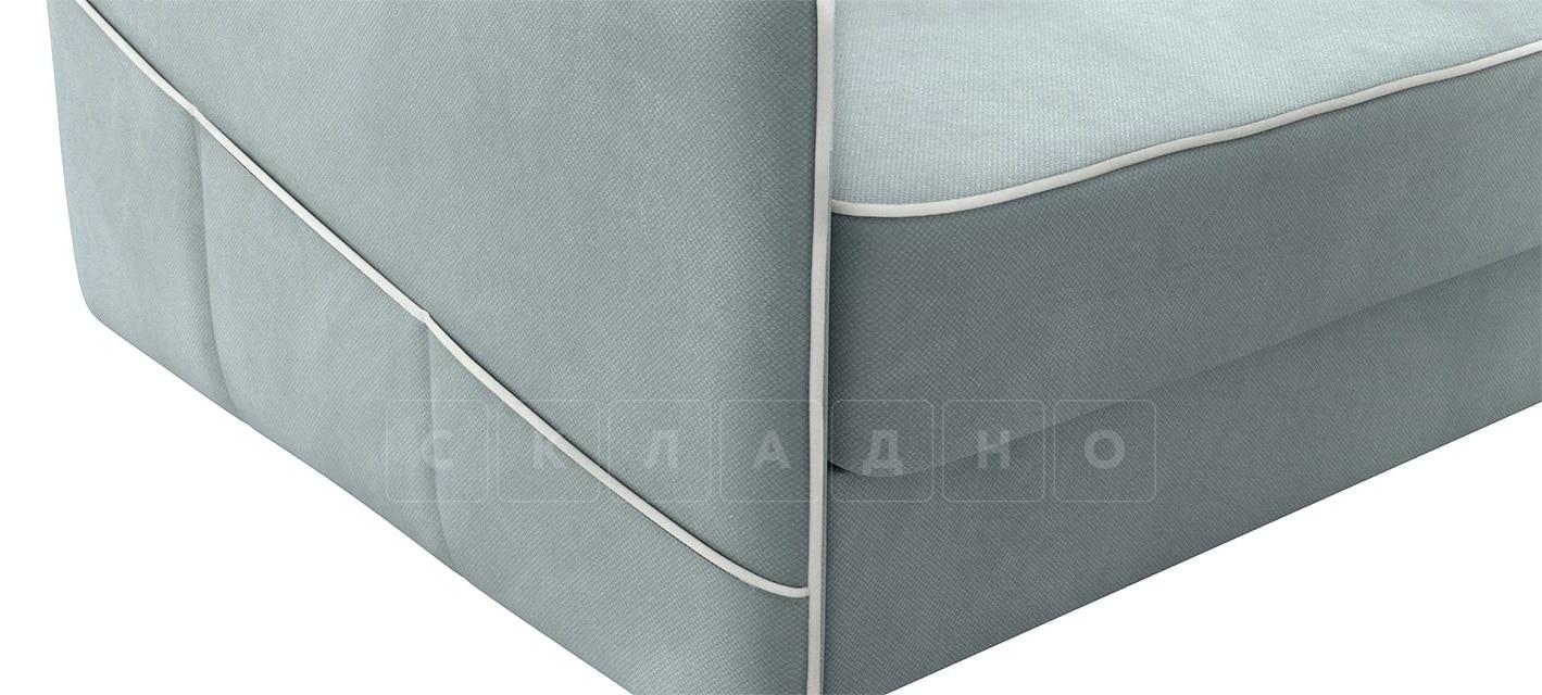 Диван угловой Слим серо-голубой правый фото 6 | интернет-магазин Складно
