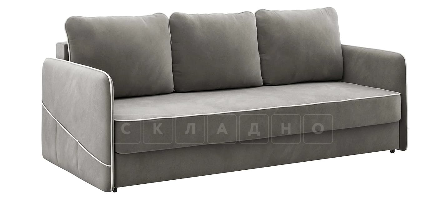 Диван с узкими подлокотниками Слим темно-серый фото 1 | интернет-магазин Складно