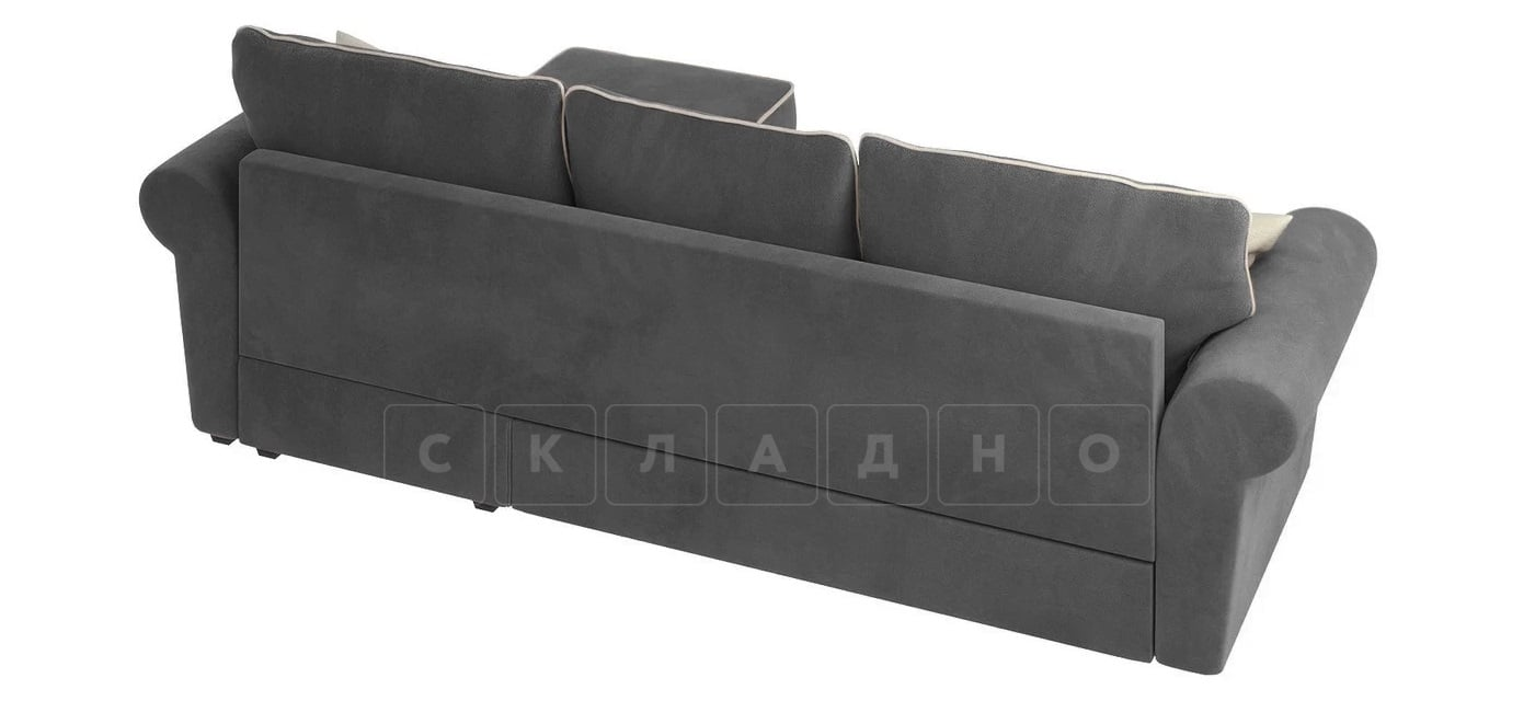 Диван угловой Милфорд серый фото 3 | интернет-магазин Складно