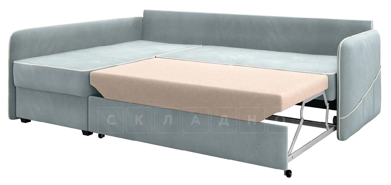 Диван угловой Слим серо-голубой левый фото 2 | интернет-магазин Складно