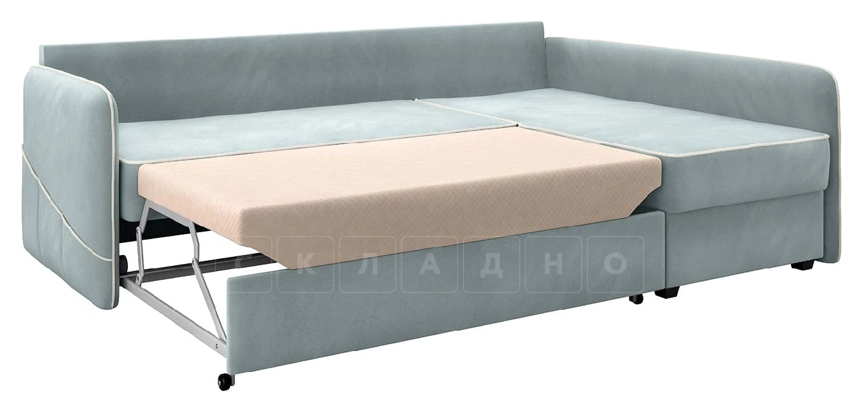 Диван угловой Слим серо-голубой правый фото 2 | интернет-магазин Складно