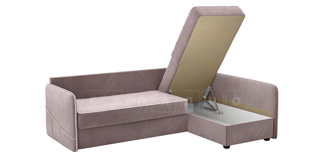 Диван угловой Слим светло-розовый правый фото 5 | интернет-магазин Складно