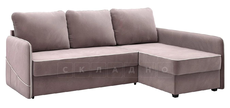Диван угловой Слим светло-розовый правый фото 1 | интернет-магазин Складно
