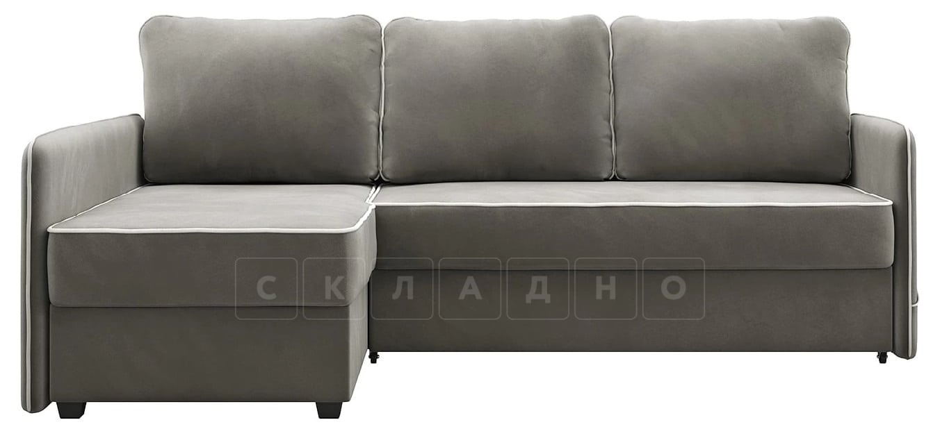 Диван угловой Слим темно-серый левый фото 4 | интернет-магазин Складно