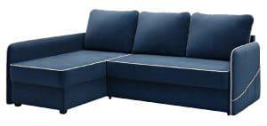 Диван угловой Слим темно-синий левый-13683 фото | интернет-магазин Складно