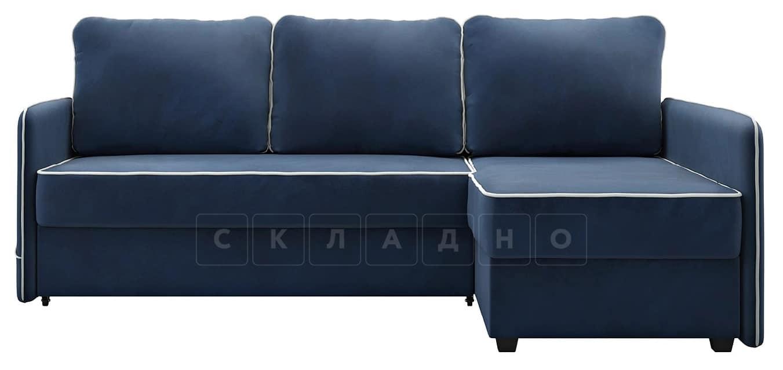 Диван угловой Слим темно-синий правый фото 4 | интернет-магазин Складно