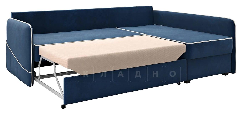 Диван угловой Слим темно-синий правый фото 2 | интернет-магазин Складно