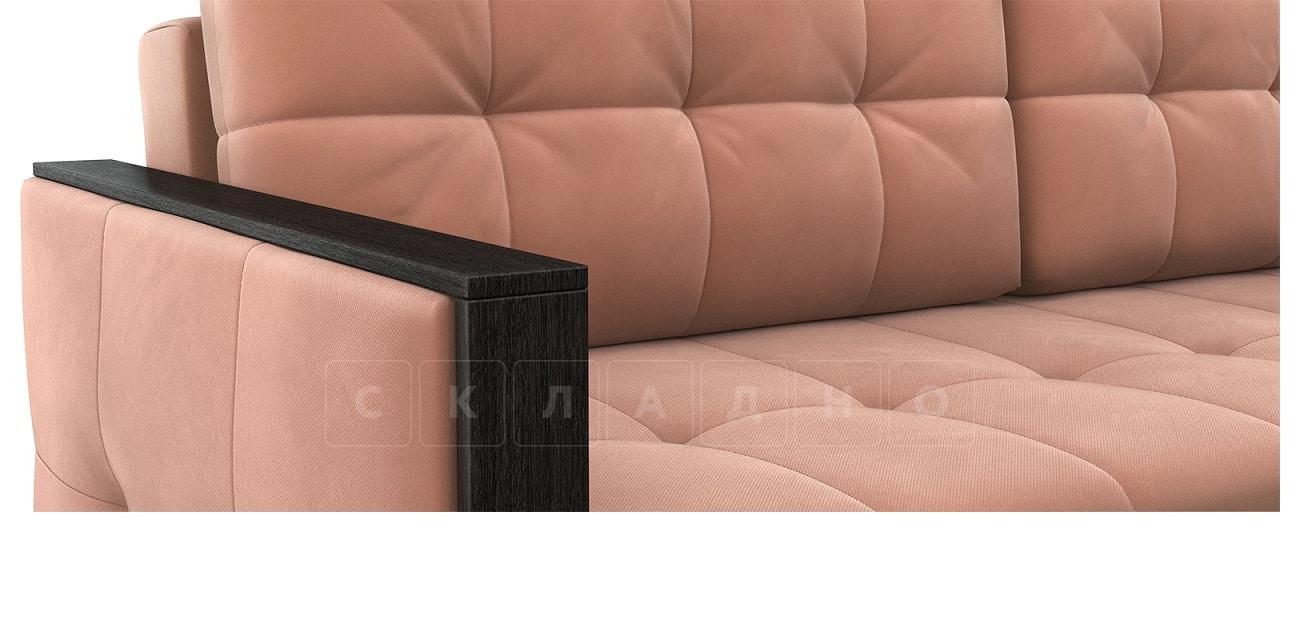 Диван еврокнижка Валенсия-1 розовый фото 5 | интернет-магазин Складно