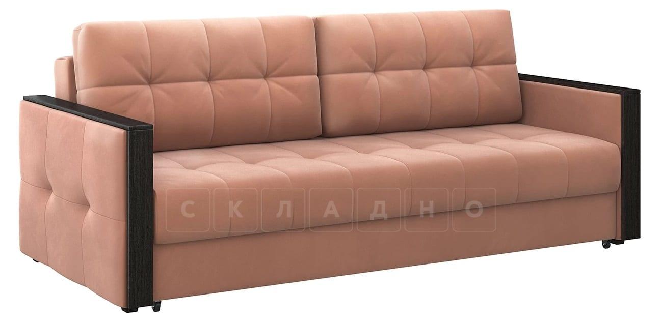 Диван еврокнижка Валенсия-1 розовый фото 1 | интернет-магазин Складно