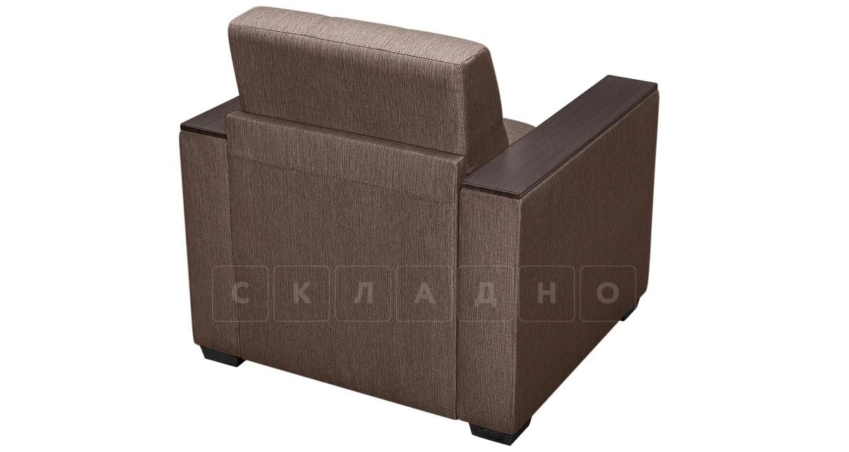 Кресло с подлокотниками Атланта рогожка коричневый фото 2 | интернет-магазин Складно