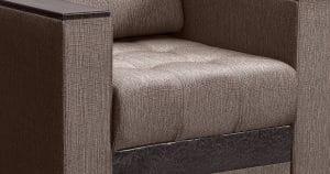 Кресло с подлокотниками Атланта рогожка коричневый 8490 рублей, фото 3 | интернет-магазин Складно
