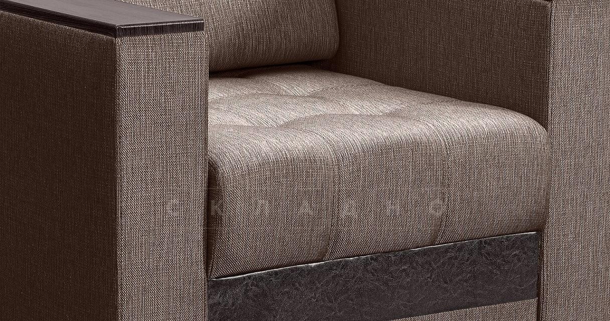 Кресло с подлокотниками Атланта рогожка коричневый фото 3 | интернет-магазин Складно