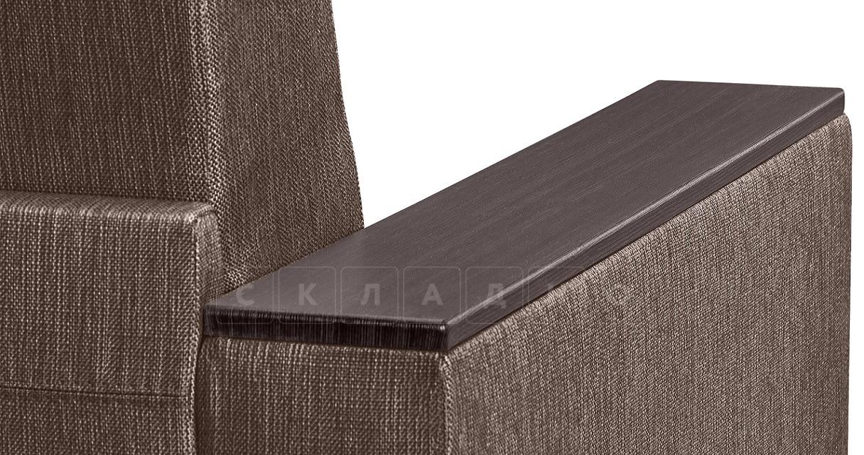 Кресло с подлокотниками Атланта рогожка коричневый фото 5 | интернет-магазин Складно