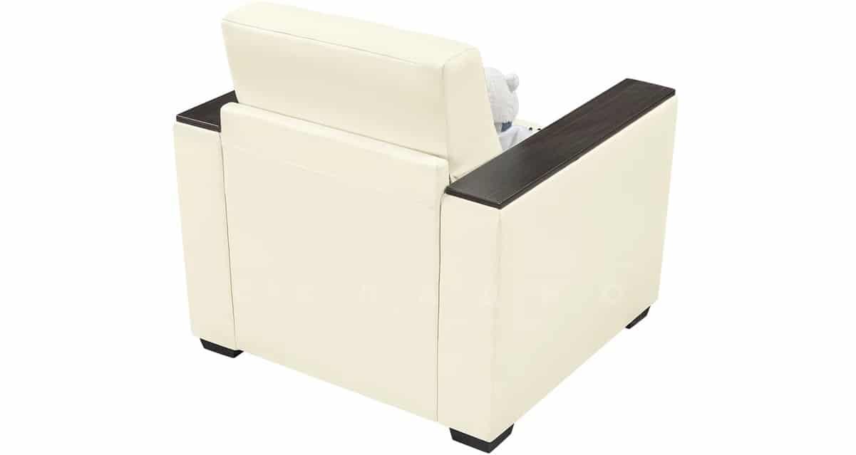 Кресло с подлокотниками Атланта экокожа молочный фото 2 | интернет-магазин Складно