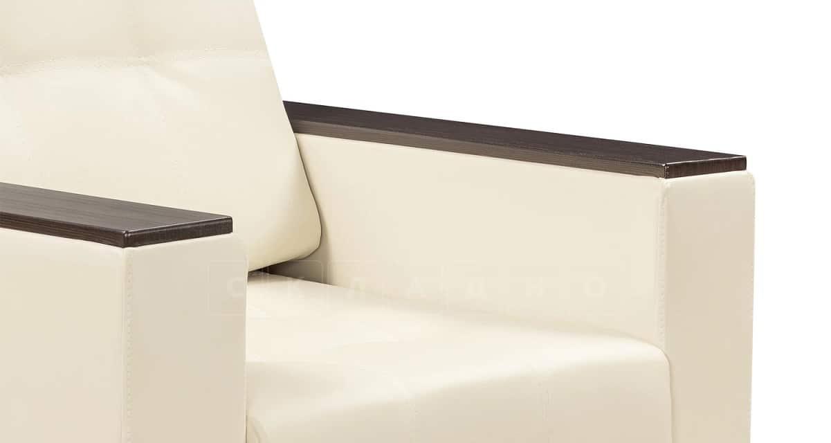 Кресло с подлокотниками Атланта экокожа молочный фото 6 | интернет-магазин Складно