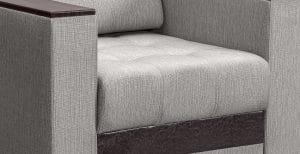 Кресло с подлокотниками Атланта рогожка серый 8490 рублей, фото 3 | интернет-магазин Складно