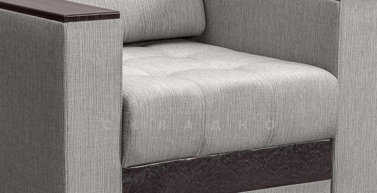 Кресло с подлокотниками Атланта рогожка серый фото 3 | интернет-магазин Складно