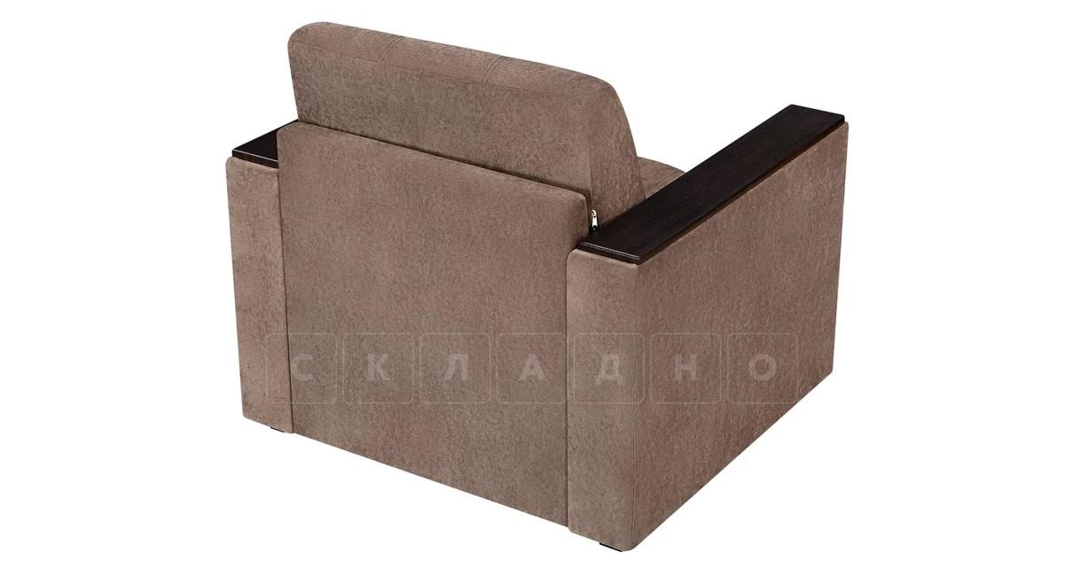 Кресло с подлокотниками Атланта вельвет коричневый фото 4   интернет-магазин Складно