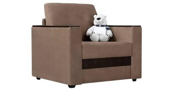 Кресло с подлокотниками Атланта вельвет коричневый фото | интернет-магазин Складно