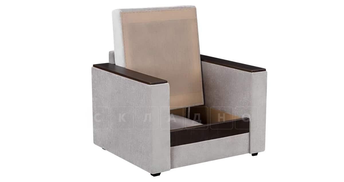 Кресло с подлокотниками Атланта велюр серый фото 2   интернет-магазин Складно