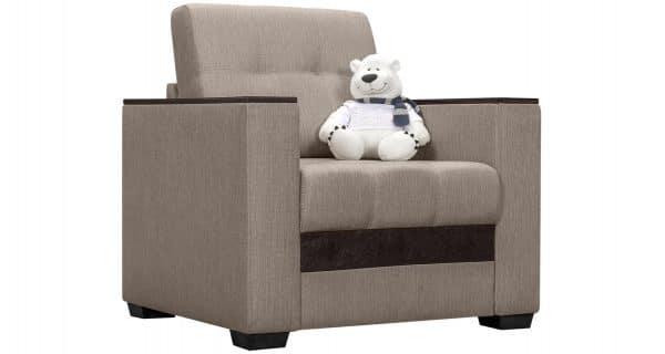 Кресло с подлокотниками Атланта рогожка бежевый фото | интернет-магазин Складно
